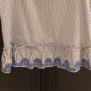 Vineyard Vines Tops - Vineyard Vines Striped Embroidered Peplum Top
